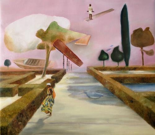 Doris Koutras, Festtag, Fantasy, Post-Surrealism, Abstract Expressionism