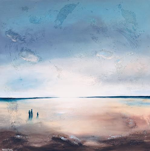 Meltem Gioli, SPAZIERGANG AM MEER, Nature: Water, Neo-Expressionism, Expressionism