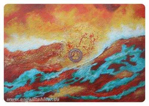 Angelika Hiller, Tanz der Energien, Abstract art, Fantasy, Abstract Art