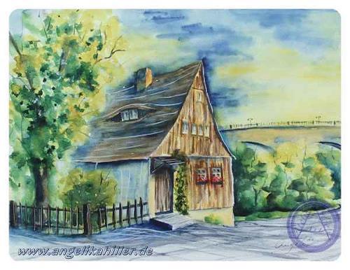 Angelika Hiller, Bautzen - Hexenhaus mit Friedensbrücke, Miscellaneous Buildings, Miscellaneous Landscapes, Contemporary Art