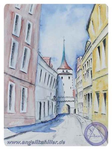 Angelika Hiller, Bautzen - Schülerturm, Miscellaneous Buildings, Miscellaneous Landscapes, Contemporary Art