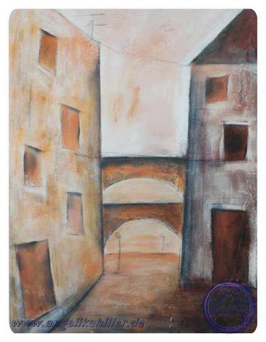 Angelika Hiller, Bautzen - Predigergasse, Abstract art, Miscellaneous Buildings, Contemporary Art