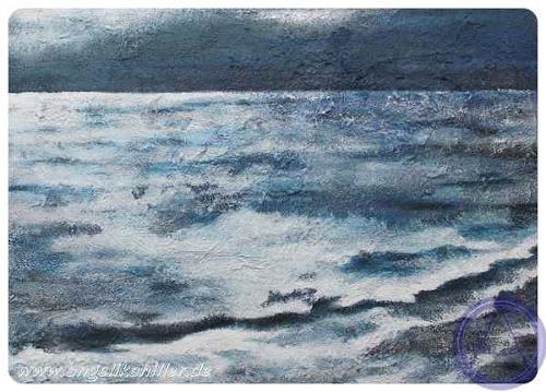 Angelika Hiller, im Mondschein, Landscapes: Sea/Ocean, Miscellaneous Landscapes, Contemporary Art