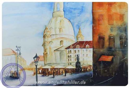 Angelika Hiller, Dresden - Frauenkirche, Landscapes, Architecture, Contemporary Art