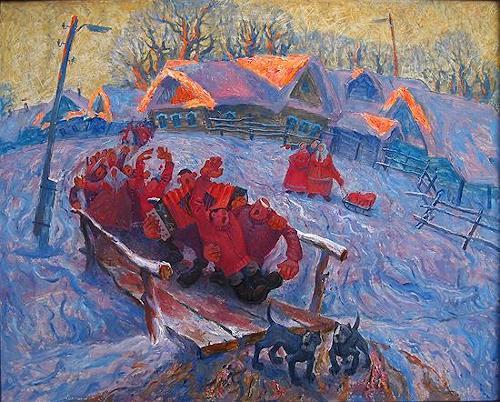 Evgeniy Shibanov, Having Good Time, Abstract art, Abstract Expressionism