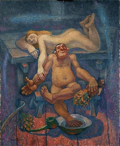 Evgeniy Shibanov, Russian Bath, Abstract art, Abstract Expressionism