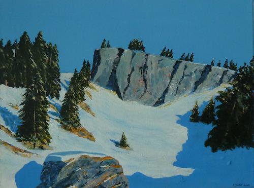 Rainer Jäckel, Hommage an Walde 2, Landscapes: Mountains, Landscapes: Winter, Contemporary Art