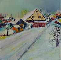 Rainer-Jaeckel-Landscapes-Winter-Miscellaneous-Landscapes-Modern-Age-Expressionism-Neo-Expressionism