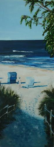 Rainer Jäckel, Ostsee Strandmorgen, Landscapes: Sea/Ocean, Landscapes: Beaches, Concrete Art