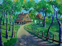 Rainer-Jaeckel-Landscapes-Spring-Miscellaneous-Landscapes-Modern-Age-Expressive-Realism