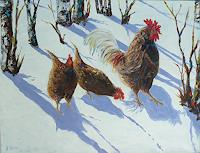 Rainer-Jaeckel-Landscapes-Winter-Animals-Land-Modern-Times-Realism