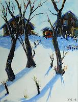 Rainer-Jaeckel-Landscapes-Winter-Interiors-Villages-Contemporary-Art-Neo-Expressionism