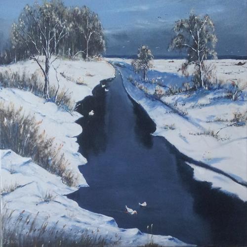 Rainer Jäckel, N/T, Landscapes, Nature: Water, Land-Art, Expressionism