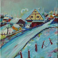 Rainer-Jaeckel-Landscapes-Winter-Modern-Age-Abstract-Art