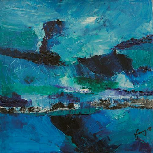 Albert Enz, Côte écossaise, Abstract art, Landscapes: Sea/Ocean, Abstract Expressionism