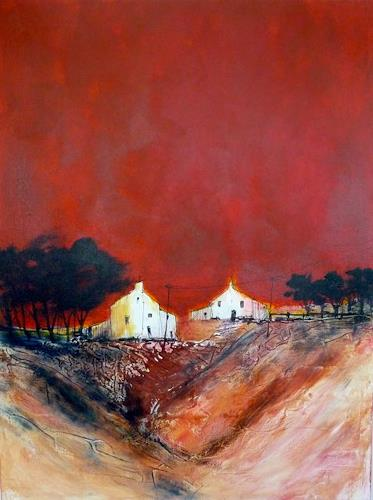 Sylva Kanderal, Idylle, Buildings: Houses, Abstract Expressionism