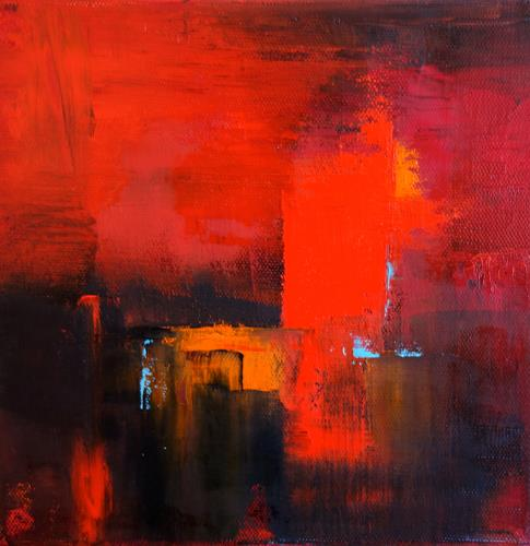 Sylva Kanderal, Abstract in Red, Abstract art, Abstract Expressionism