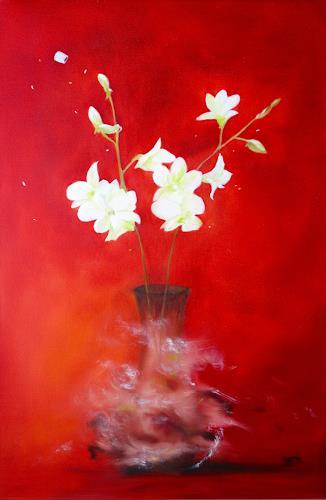 Sylva Kanderal, Orchid, Still life, Contemporary Art