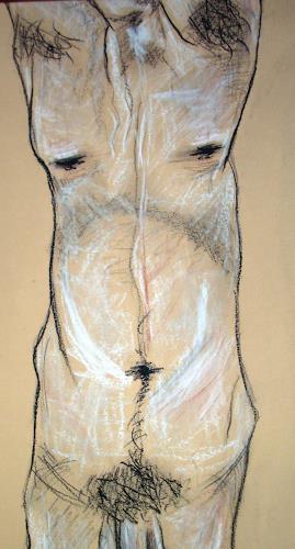 Imke Kreiser, Akt 5, Erotic motifs: Male nudes, Contemporary Art