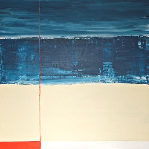 Imke Kreiser, Cutting Red, Abstract art, Landscapes: Beaches, Contemporary Art, Abstract Expressionism