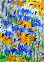 Hanni-Smigaj-Abstract-art-Plants-Flowers-Modern-Age-Expressionism-Abstract-Expressionism