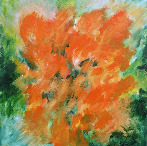 Hanni Smigaj, Botanischer Garten, Abstract art, Plants: Flowers, Abstract Expressionism