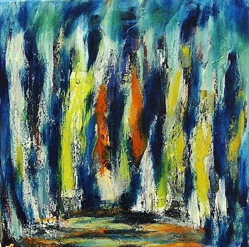 Hanni Smigaj, Begegnung, Abstract art, Movement, Abstract Art