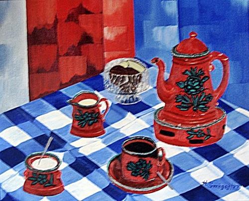 Hanni Smigaj, coffeetime, Still life, Meal, Naturalism
