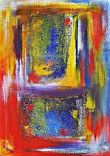 Hanni Smigaj, O/Titel, Abstract art, Abstract art, Abstract Expressionism