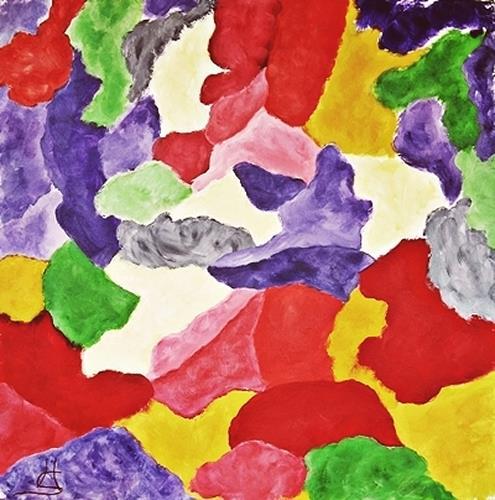 Hanni Smigaj, Gespräch der Farben I, Abstract art, Fantasy, Abstract Expressionism