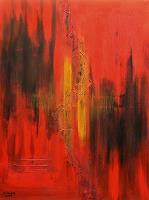 Hanni-Smigaj-Nature-Fire-Nature-Modern-Age-Abstract-Art-Non-Objectivism--Informel-