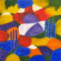 Hanni-Smigaj-Plants-Flowers-Nature-Modern-Age-Expressionism-Abstract-Expressionism