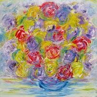 Hanni-Smigaj-Still-life-Plants-Flowers-Modern-Age-Expressionism-Abstract-Expressionism