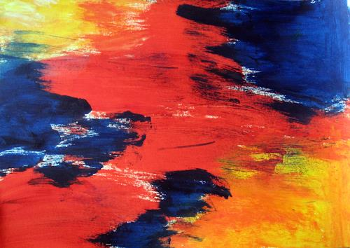Hanni Smigaj, O/Titel III - 2018, Abstract art, Abstract art, Non-Objectivism [Informel]