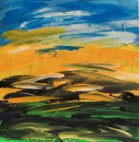 Hanni-Smigaj-Abstract-art-Landscapes-Plains-Modern-Age-Abstract-Art-Non-Objectivism--Informel-