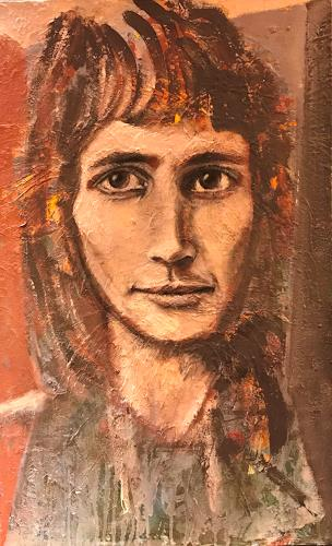 art ilse schill, Alfi, People: Faces, Abstract Art