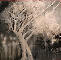 art-ilse-schill-Nature-Wood-Abstract-art-Modern-Age-Impressionism-Neo-Impressionism