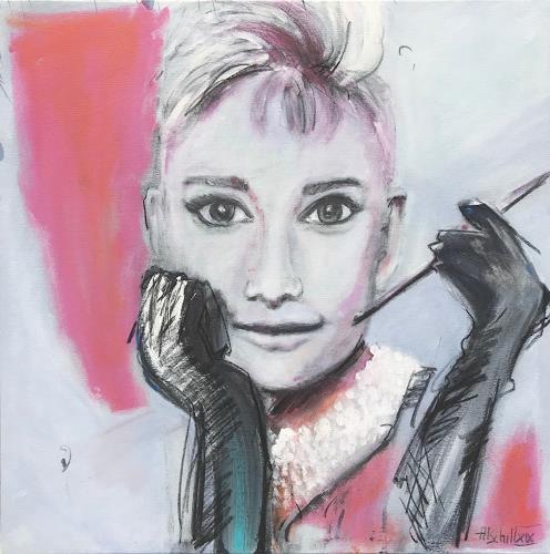art ilse schill, Audrey, People, Decorative Art, Contemporary Art