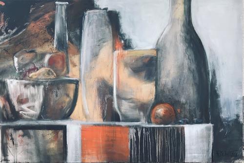 art ilse schill, Stillleben, Decorative Art, Still life, Action Painting