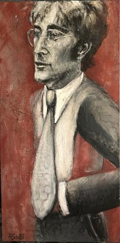 art ilse schill, john lennon, People, Abstract Art