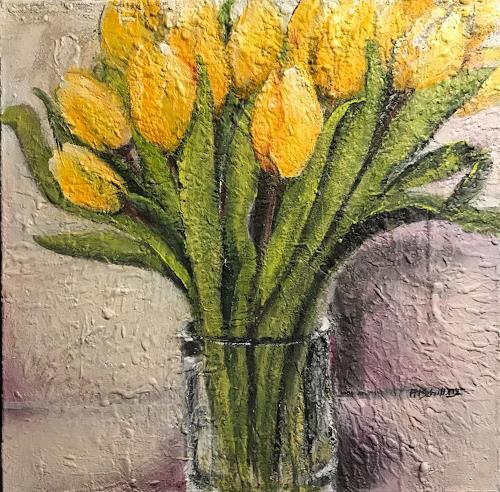 art ilse schill, tulips, Plants: Flowers, Landscapes: Spring, Happening