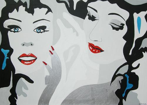 Michaela Zottler, Red Lips, People: Women, People: Portraits, Pop-Art, Expressionism
