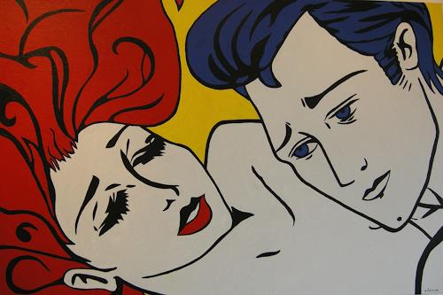 Michaela Zottler, Leidenschaft, People: Couples, People: Faces, Pop-Art