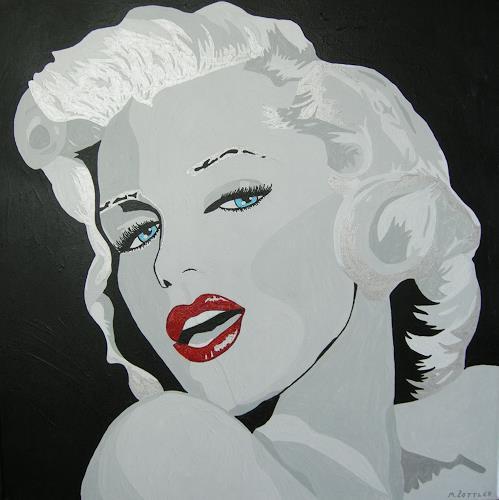 Michaela Zottler, Marilyn, People: Women, People: Portraits, Pop-Art, Expressionism