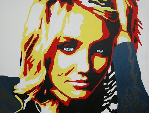 Michaela Zottler, Cameron Diaz, People: Women, People: Portraits, Pop-Art, Abstract Expressionism