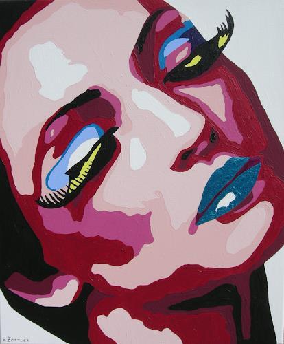 Michaela Zottler, Purple dream, People: Women, People: Portraits, Pop-Art