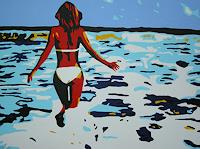 Michaela-Zottler-People-Women-Landscapes-Summer-Modern-Age-Pop-Art