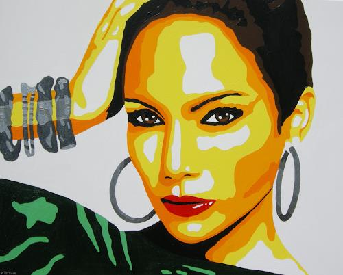 Michaela Zottler, Jennifer Lopez, People: Women, People: Portraits, Pop-Art, Abstract Expressionism