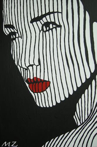 Michaela Zottler, Light in black, People: Women, People: Portraits, Pop-Art, Abstract Expressionism