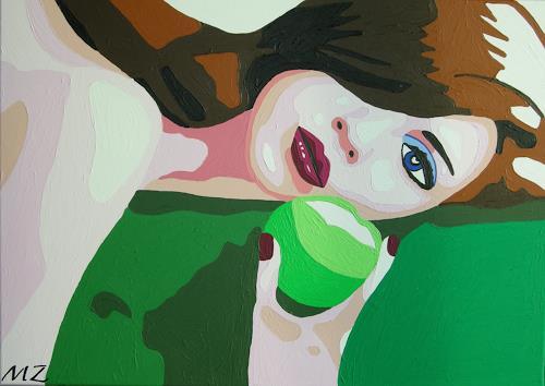 Michaela Zottler, Apple girl, People: Women, People: Portraits, Pop-Art